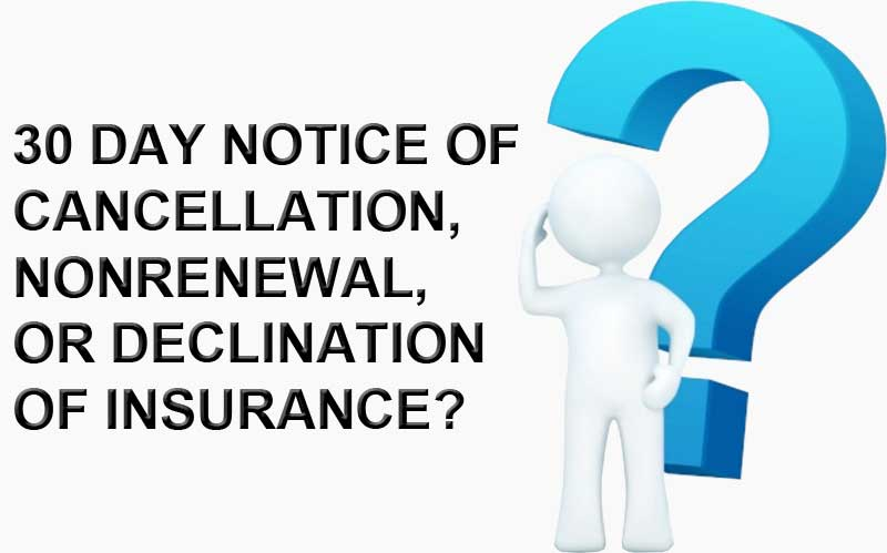 Insurance Renewal And Non Renewal Notification Requirements