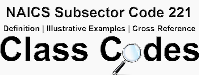 NAICS 3 Digit Subsector Code 221