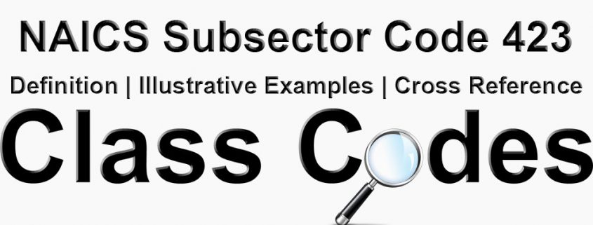 NAICS 3 Digit Subsector Code 423
