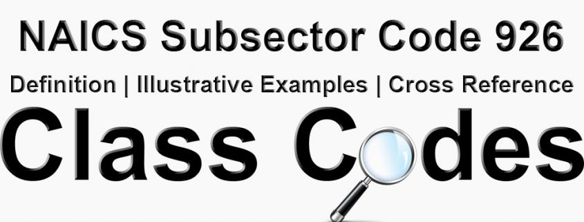 NAICS 3 Digit Subsector Code 926