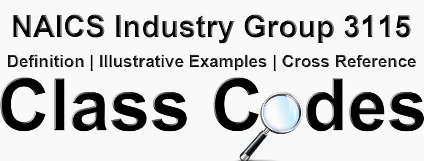 NAICS 4 Digit Industry Group 3115