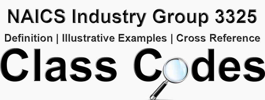 NAICS 4 Digit Industry Group 3325