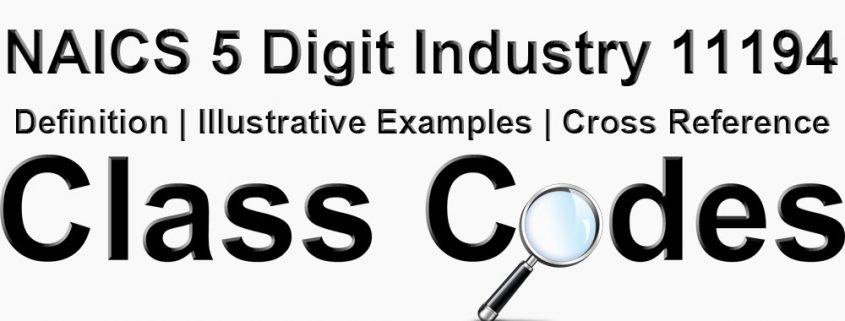 NAICS 5 Digit Industry 11194