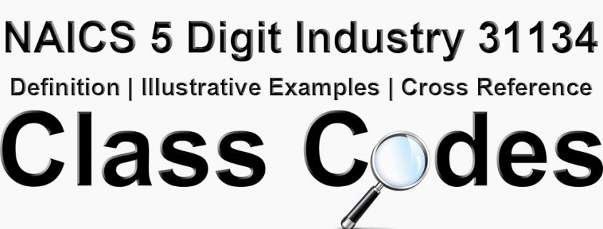 NAICS 5 Digit Industry 31134