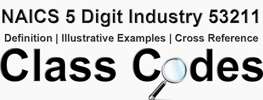 NAICS 5 Digit Industry 53211