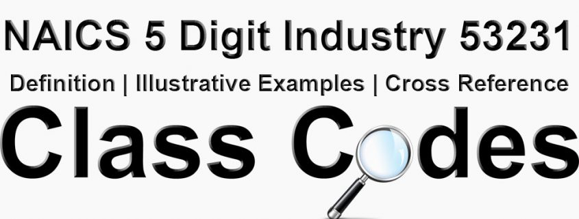 NAICS 5 Digit Industry 53231