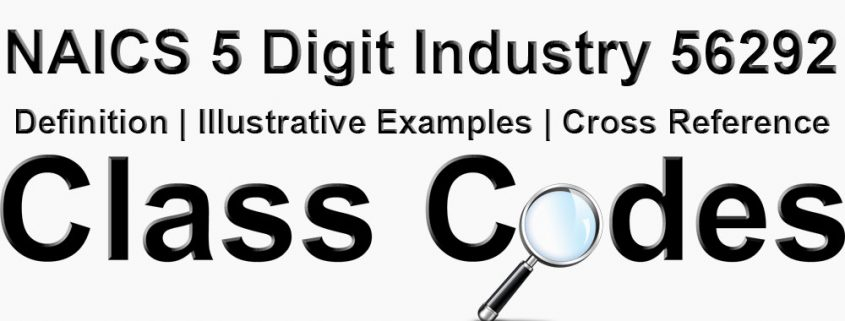NAICS 5 Digit Industry 56292