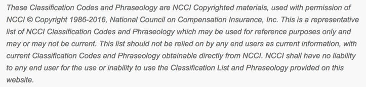Numerical NCCI Code List